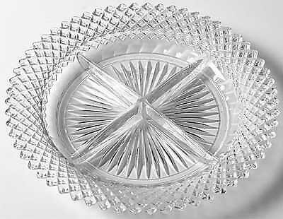 Anchor Hocking MISS AMERICA CLEAR 4 Part Relish Dish 6110