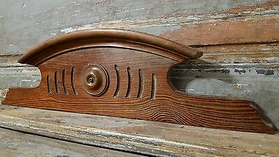 18.78 in Antique French Carved Wood PITCHPIN SALVAGED PEDIMENT architectural