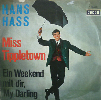 """7"""" 1965 RARE IN VG+++ ! HANS HASS : Miss Tippletown"""