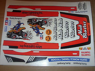 Mud Blaster Custom  Tamiya  Kyosho Hpi  Decals Stickers Precut