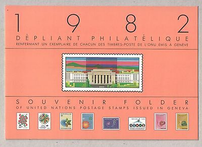 United Nations UN Geneva Vienna Pair of 1982 Stamps Annual Presentation Packs