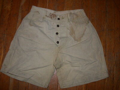 Vtg 30 40 Kids Boys Button Fly N.r.a. National Recovery Act Nra Denim Jean Short