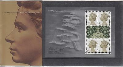 GB 2000 Stamp Show Presentation Pack M03 - HER MAJESTYS STAMPS Mini Sheet -