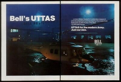 1972 Bell U.S. Army UTTAS helicopter photo vintage print ad