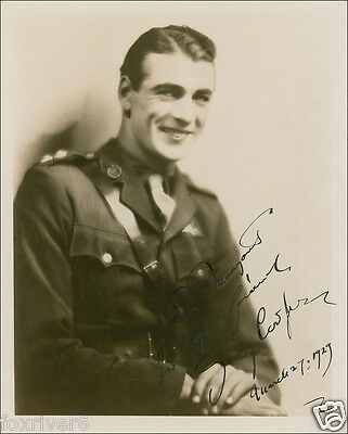 GARY COOPER Signed Early Photograph - Film Star Actor