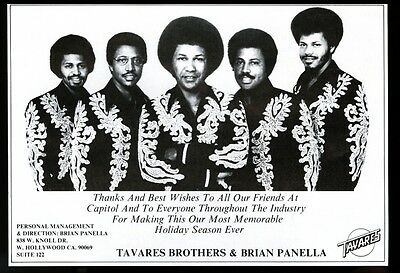 1976 Tavares Brothers photo music trade booking ad