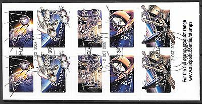 AUSTRALIA 2006 Blast Off 50 years in Space $5 unfolded booklet, CTO used.