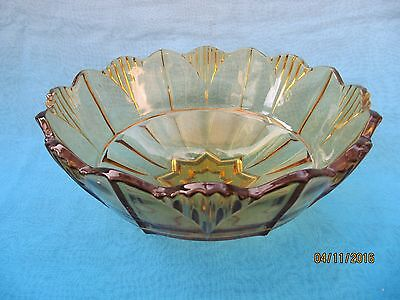 Vintage ~ Smoky Brown Circular Glass Bowl