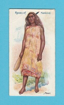 Nations  -  F. & J. Smith  -  Races Of Mankind  Card  -  Maori  -  1900