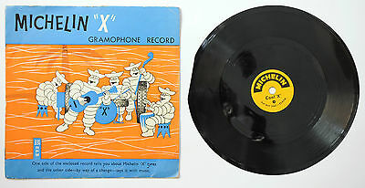 "Michelin X Tyres Rare UK Promo flexi disc 7"" single picture sleeve 33 rpm 1960"