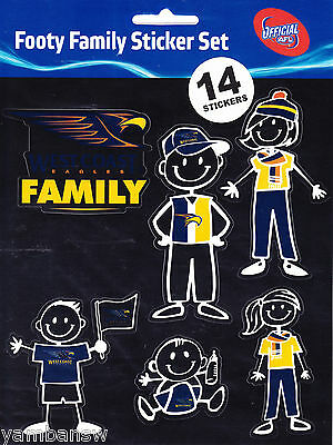West Coast Eagles * Footy Family Sticker Set * Afl * New & Sealed