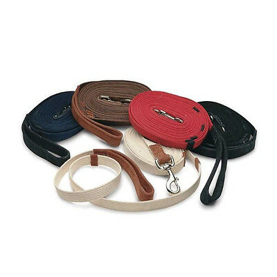 "New ""cottage Craft "" Red Lunge Rein Leather Handle Lunge Line"