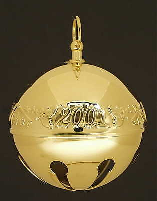 Wallace SLEIGH BELL-GOLDPLATED ORNAMENT 2001 Christmas Characters 1948838