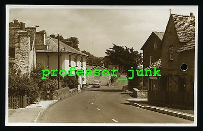 CLYRO Baskerville Arms Hotel RADNORSHIRE - Old RP Postcard HAY ON WYE Car TOJ637