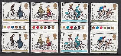 Gb Great Britain 1978 Cycling Never Hinged Mint Traffic Light Gutter Pairs