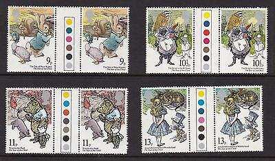 Gb Great Britain 1979 Year Of Child Never Hinged Mint Traffic Light Gutter Pairs