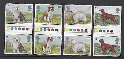 Gb Great Britain 1979 Dogs Never Hinged Mint Traffic Light Gutter Pairs