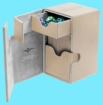 ULTIMATE GUARD FLIP n TRAY SAND 80+ XENOSKIN DECK CASE Game Card Box MTG CCG