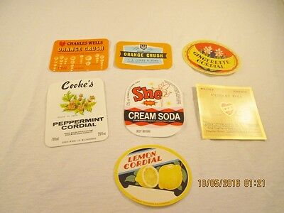 Vintage Unused Soda and Other Drink Labels #33