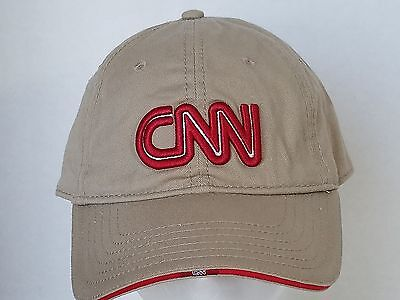 CNN Tan Ball Cap With Red and White Letters