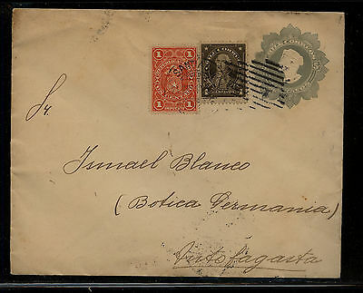 Chile  nice  uprated  postal envelope  local use   1913       AT0706