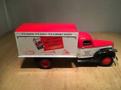 Gumout 1942 Chevy 1 1/2 Ton Diecast Truck Coin Bank - Liberty #75002