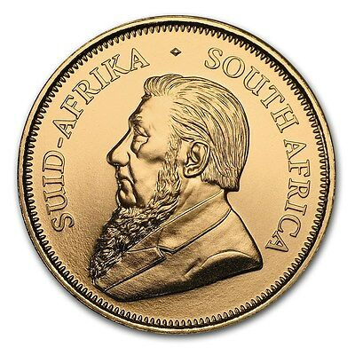 CH/GEM BU 1/4 oz. Gold South African Krugerrand Coin (Random Date)