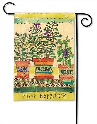 Flag Herb Garden plant happiness Yard Patio House Banner BreezeArt 12.5 x 18