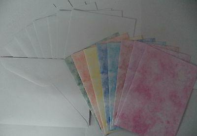 80 x A5  MARBLE CARD STOCK 8 colours  216gsm card making  *CLEARANCE*