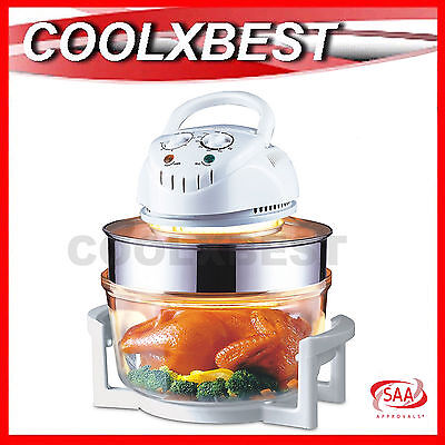 New 17L Family Turbo Convection Oven Broiler Cooker Roast Grill Steam Portable