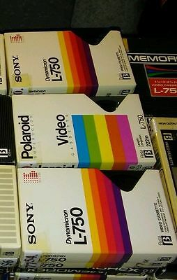 100 Betamax Tapes Used Scotch, BASF, Sony