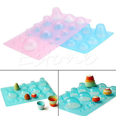 Mini Quilling 3D Half Ball Domes DIY Papercraft Board Quilled Mould Tool 1Pc