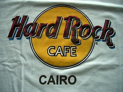 HRC Hard Rock Cafe Cairo Classic Logo Tee Shirt White Size L New