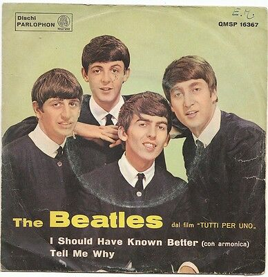 "7"" ITALY - THE BEATLES - ""I SHOULD HAVE KNOW BETTER"" - 1a STAMPA - BEAT"
