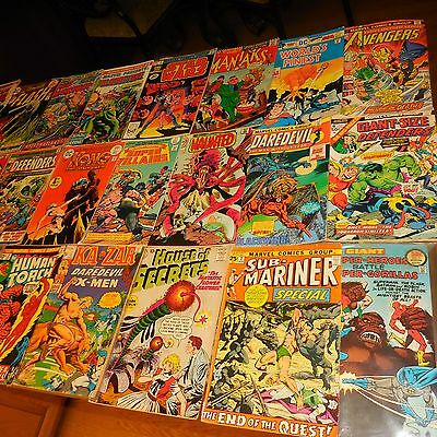 44 Marvel Dc Comic Book Lot 1960-1970 Some #1 Issues & Star Wars Kung Fu Shazam
