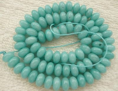 amazonite blue rondelle faceted 8x5 10x6 12x8mm gemstone beads blue green
