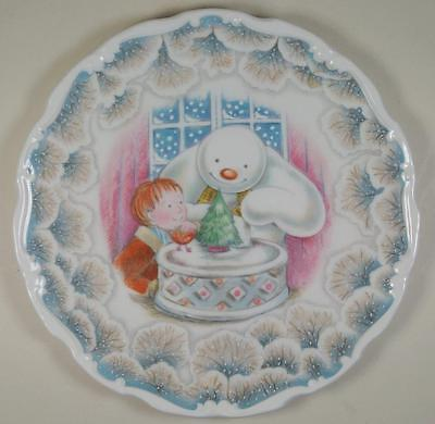 Royal Doulton Snowman Gift Collection Christmas Cake Second in Series PLATE