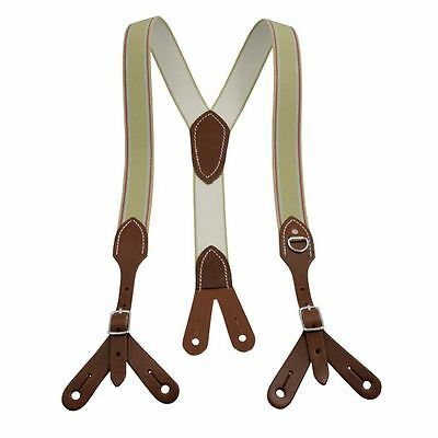 Outfitters Supply Suspenders Mens Butt Leather Brown WSUSP100