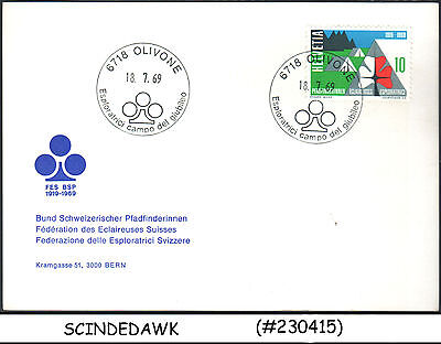 Switzerland - 1969 Swiss Confederation Scouts / Girl Scout Special Card With Spe