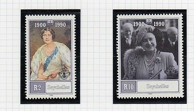 (74879) Seychelles MNH Queen Mother 90th Birthday 1990 unmounted mint