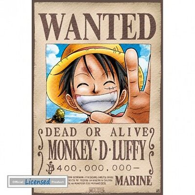 One Piece - Wanted Monkey D Ruffy Manga Anime Poster Plakat (52x35cm) #74245