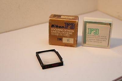 Nikon F3 , H3 Focusing Screen , Boxed & Cased .