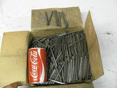 "50 LBS of New 3-1/4"" 12D Cut Square Masonry Nails Antique Vintage Crafts Art"