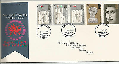 Gb Fdc 1969 Investiture Of Prince Of Wales
