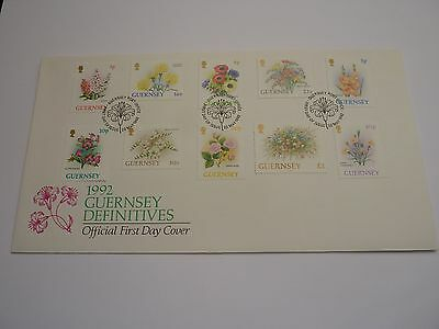 Guernsey Flowers 1992 FDC
