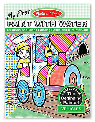 Melissa & Doug My first Paint with Water Vehicles #9339 BRAND NEW