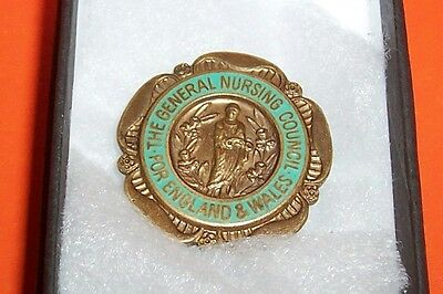 General Nursing Council For England & Wales Badge 68325 Boxed