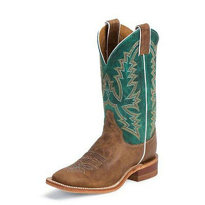 BRL317 Justin Women's Burnished Tan America Western Cowboy Boot NEW
