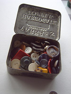 ^ Vintage Buttons - In Vintage Farrah's Tin - Assorted - Quantity [X]