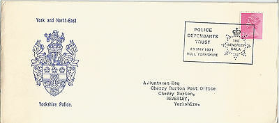 Gb Fdc 1971 York & North East Yorkshire Police